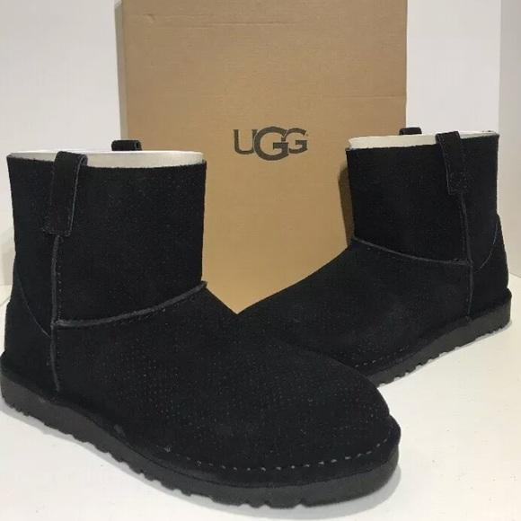 bedd6a6e4f6 UGG Classic Unlined Mini Perf Boots Black NWT